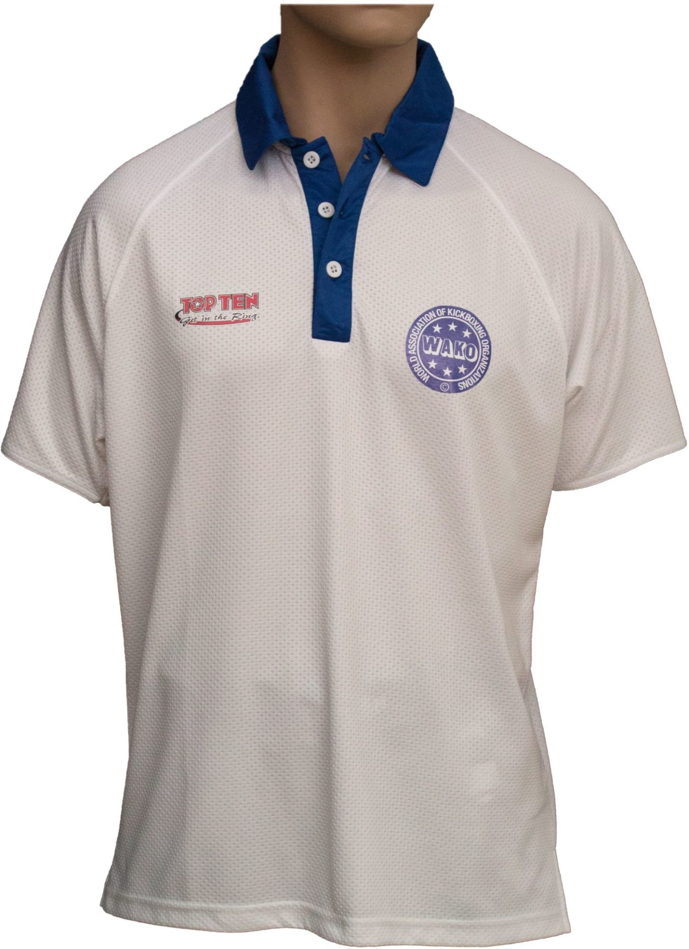 """Polo Shirt """"WAKO""""  Dry Fit Wit"""