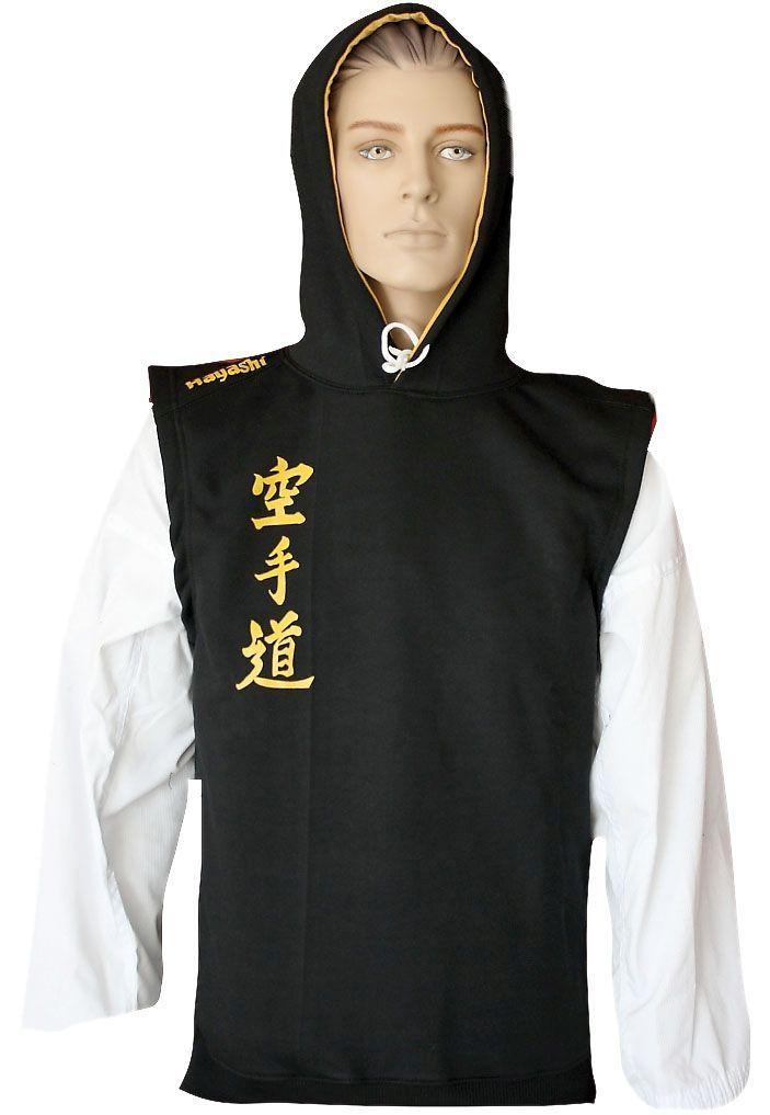 """Hayashi Mouwloos hoodie """"Karate-Do"""" Zwart"""