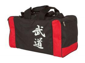 "Sporttas ""Bushido"" Zwart - rood"