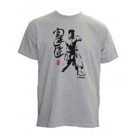"Hayashi T-shirt ""Fighter"" Grijs"
