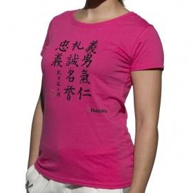 """Hayashi T-shirt """"Kanjin"""" Roze"""