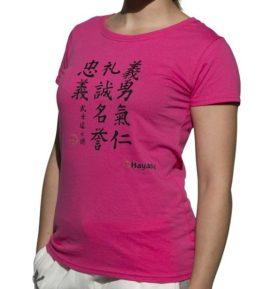 """T-shirt """"Kanjin"""" Roze"""