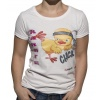 "T-shirt ""Karate-Chick"" Wit"
