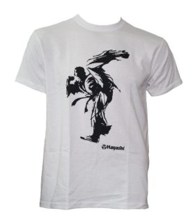 "T-shirt ""Kick"" Wit"
