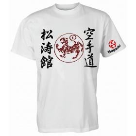 "Hayashi T-Shirt ""Shotokan Tiger"" Wit"