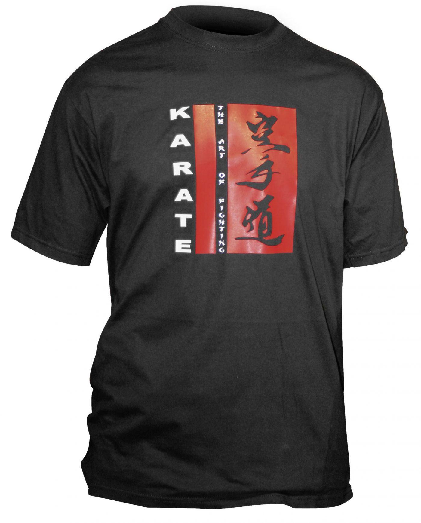 "T-Shirt ""The Art Of Fighting"" Zwart"
