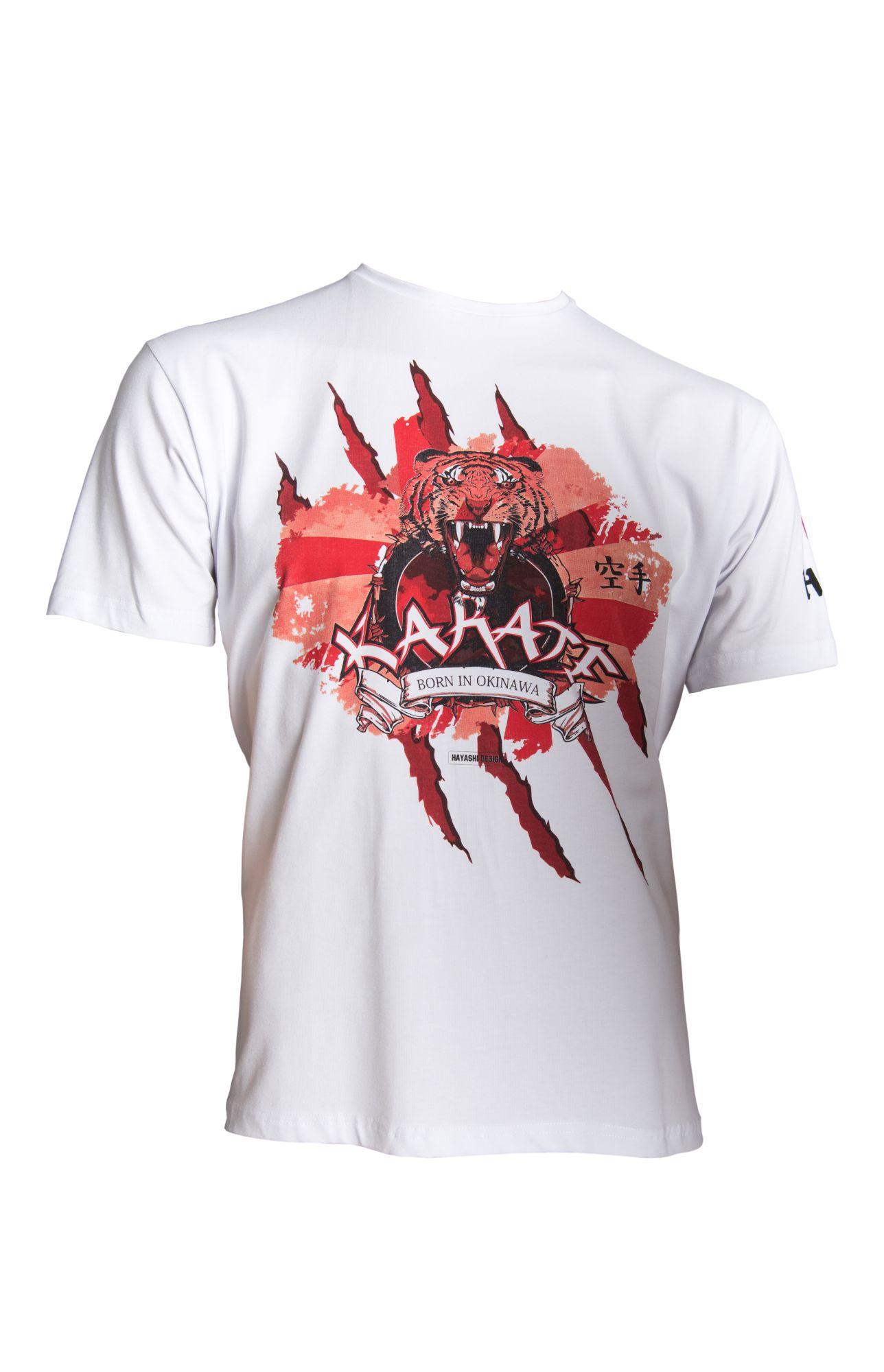 """Hayashi T-Shirt """"Tiger"""" Wit"""