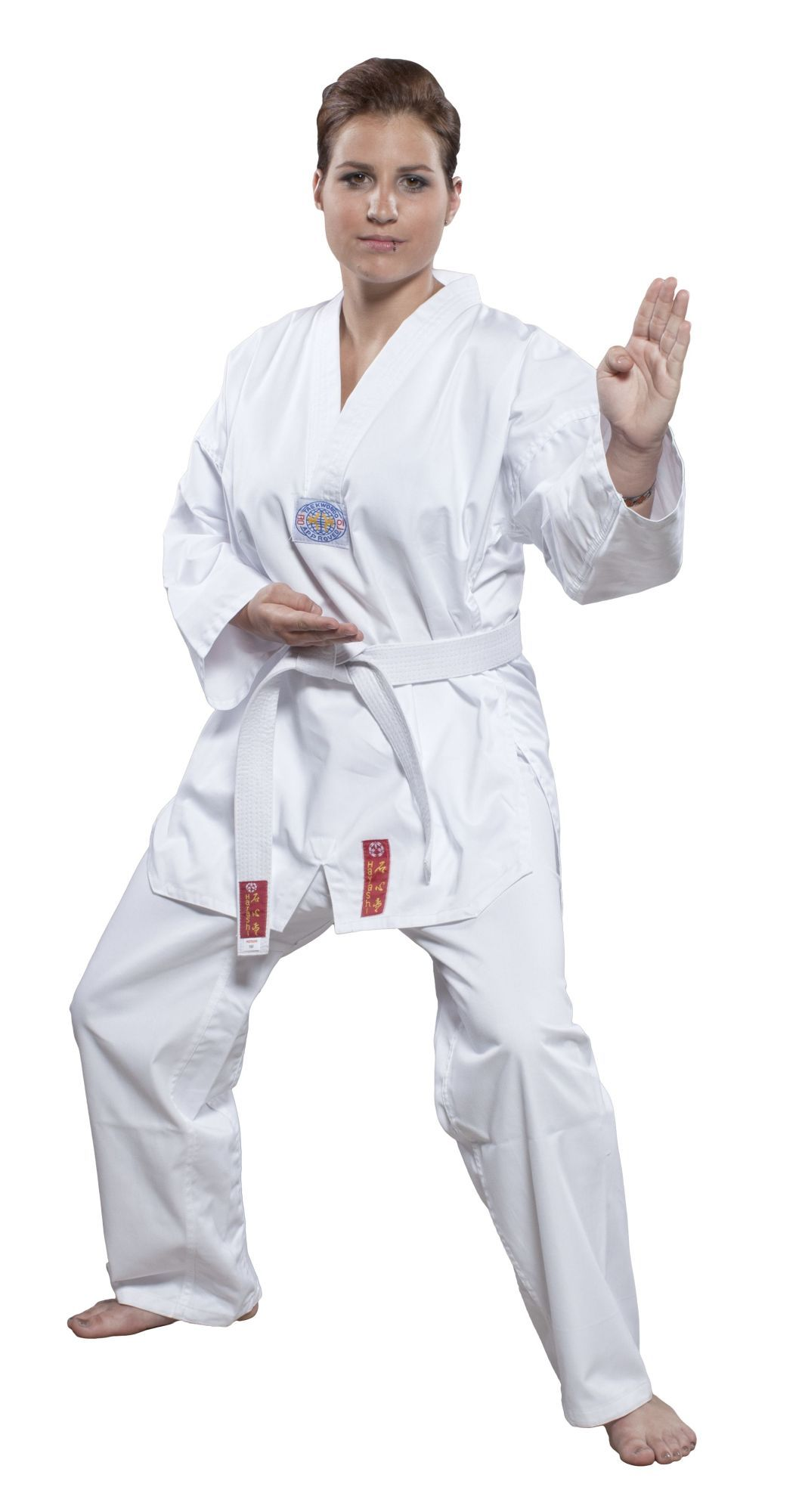 "Hayashi Taekwondopak ""Taeguk"" (met print on the back) Wit"