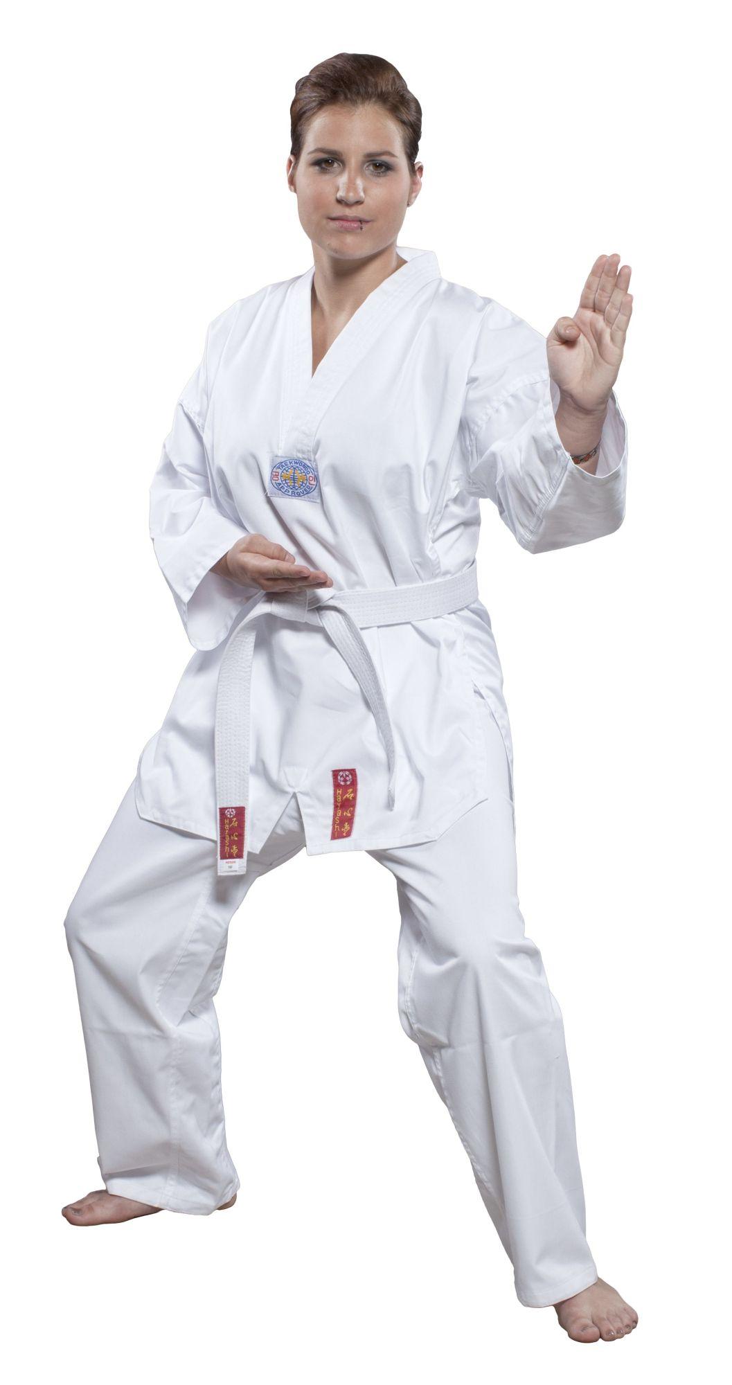 "Hayashi Taekwondopak ""Taeguk"" zonder rugprint (wit)"