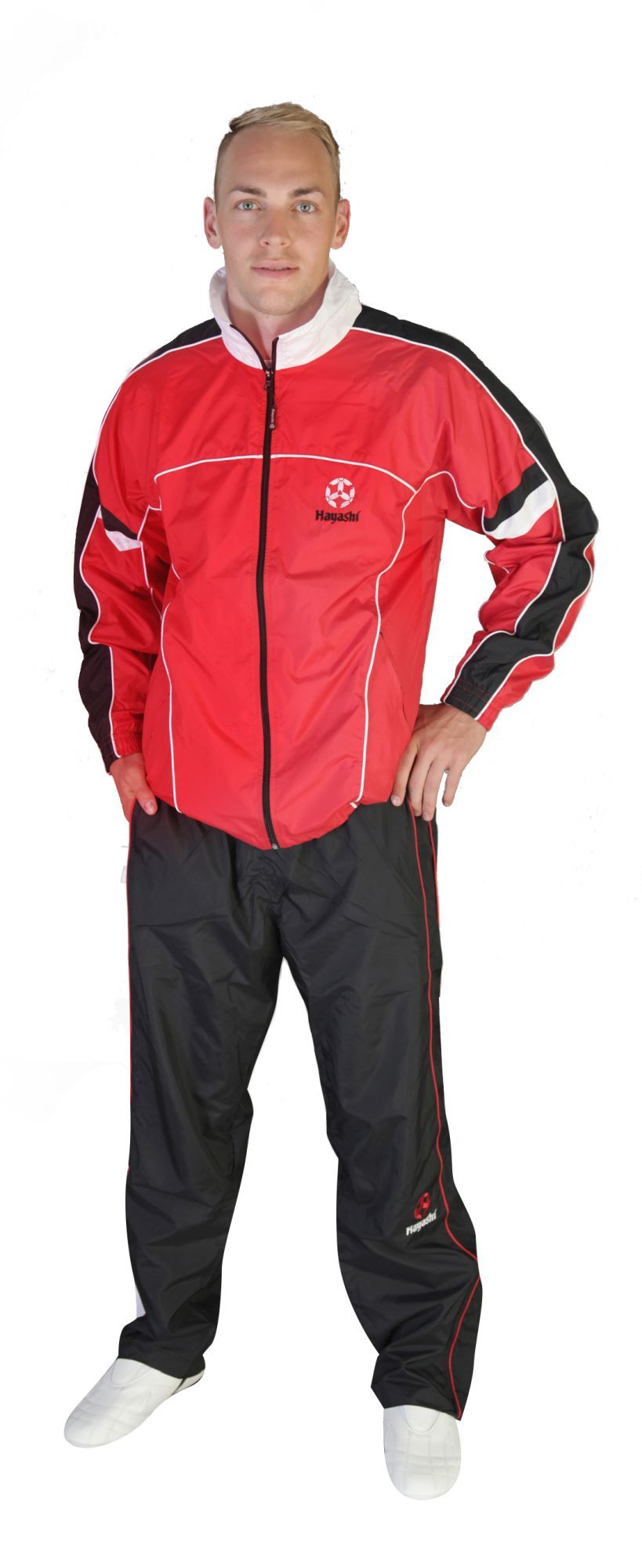 Hayashi Trainingspak met zwarte broek (Rood / Zwart)