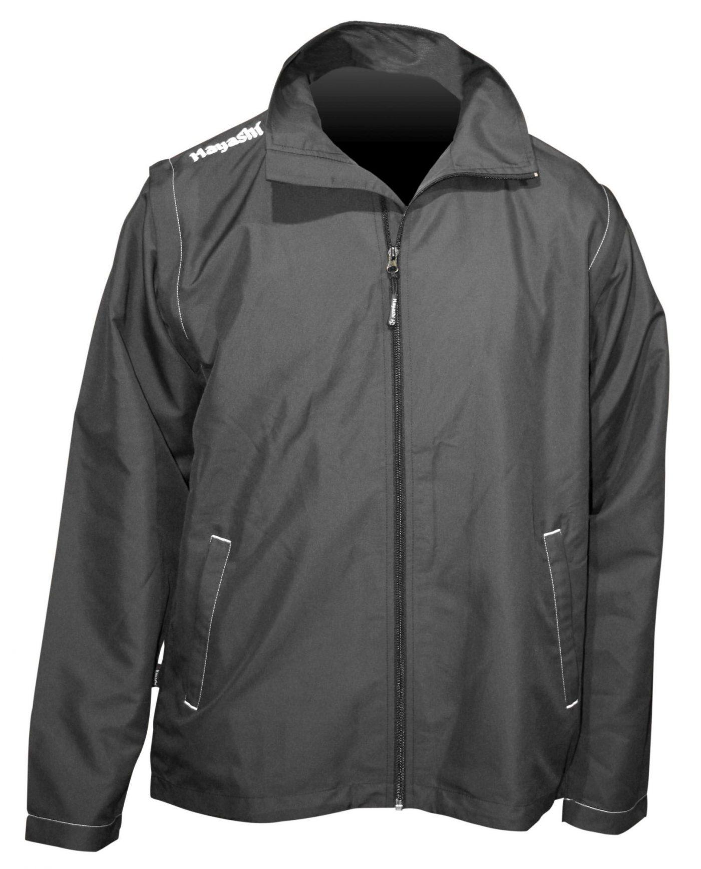 Hayashi Windbreaker multifunctionele jas met verwijderbare mouwen Zwart