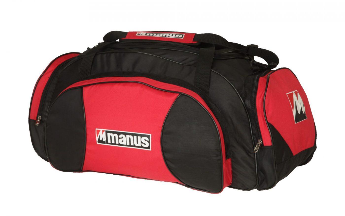 Manus Sporttas Zwart - rood