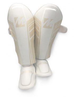 """Scheenbeschermers """"Pearl wit"""" voor Thaiboksen / K1 / MMA Wit"""