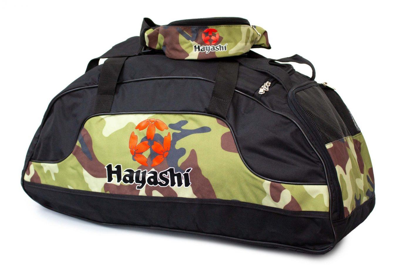 """Hayashi Sporttas """"Camouflage"""" Set Zwart - Camouflage"""
