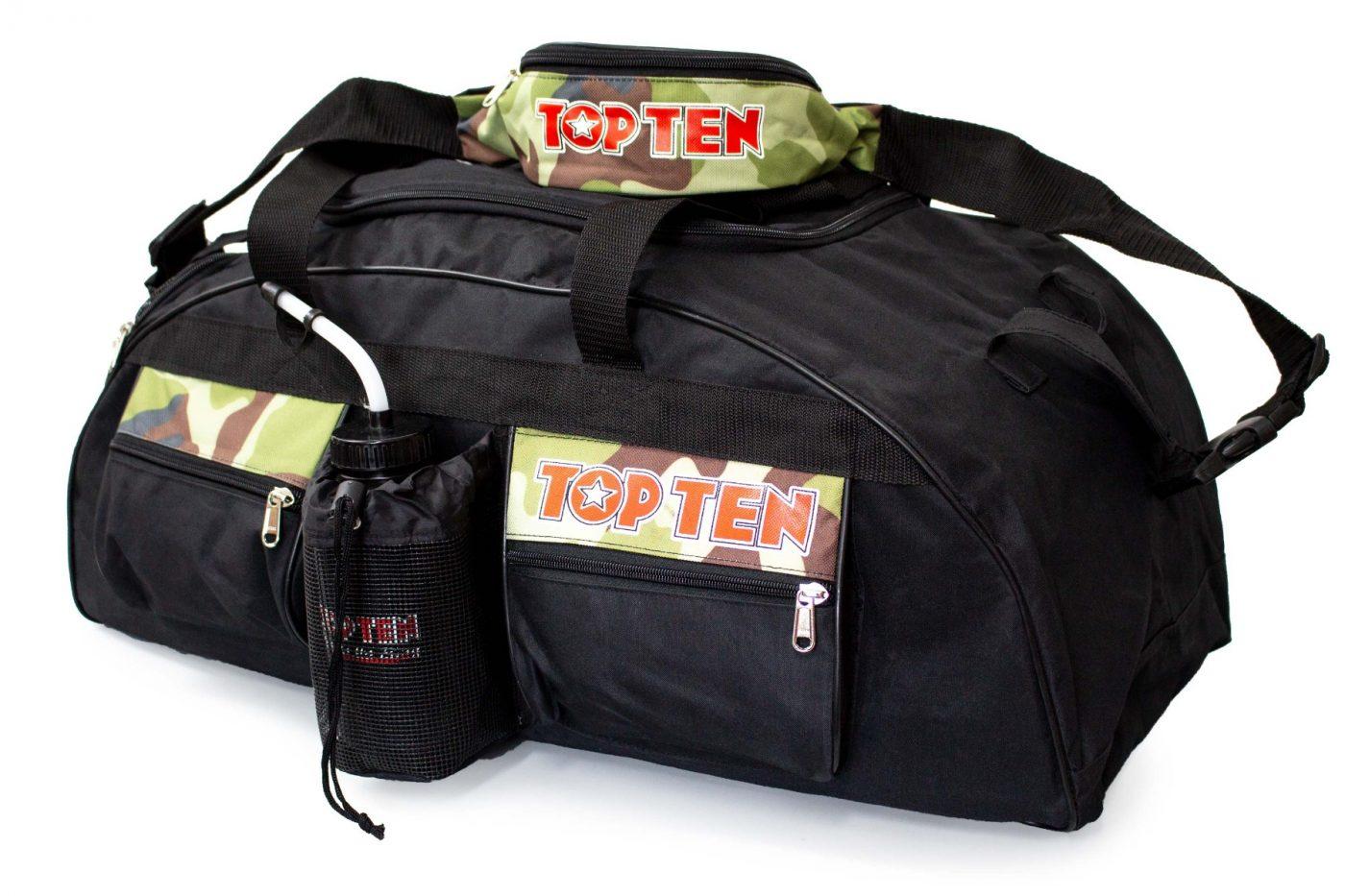 """TOP TEN Sporttas """"Camouflage"""" Set Zwart - Camouflage"""