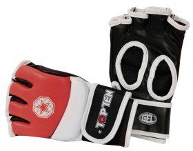 MMA handschoenen voor amateur wedstrijden Rood - Wit