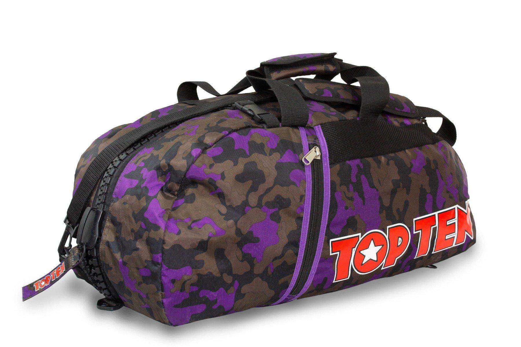 TOP TEN Rugtas / Sporttas Camouflage - Paars