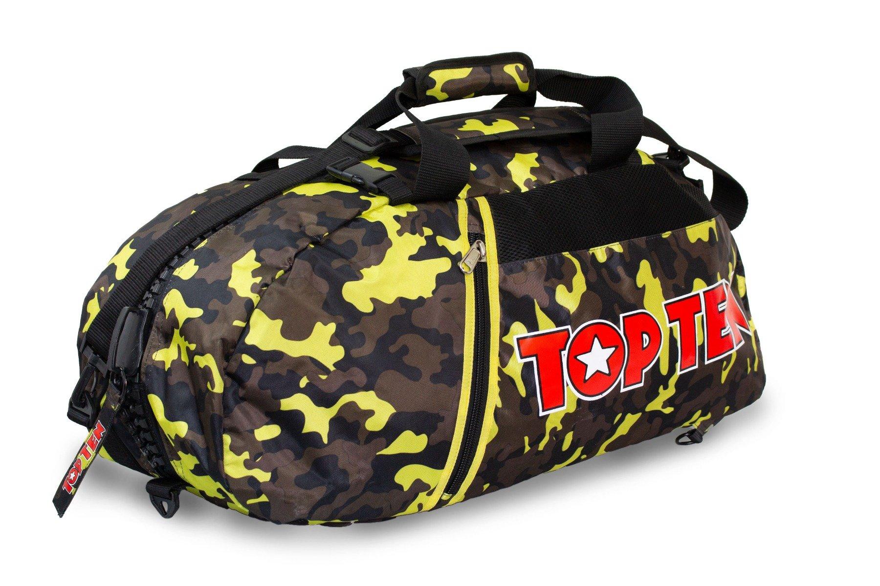 TOP TEN Rugtas / Sporttas Camouflage - Geel