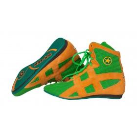 TOP TEN Boksschoenen Groen-Oranje