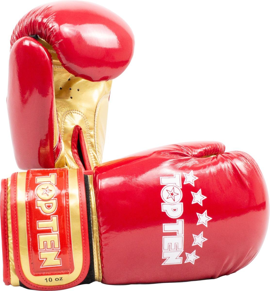 """TOP TEN Bokshandschoenen """"Champion"""" in glossy look goud - rood"""