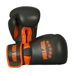 """Bokshandschoenen """"Elite Dual"""" Zwart - Oranje"""