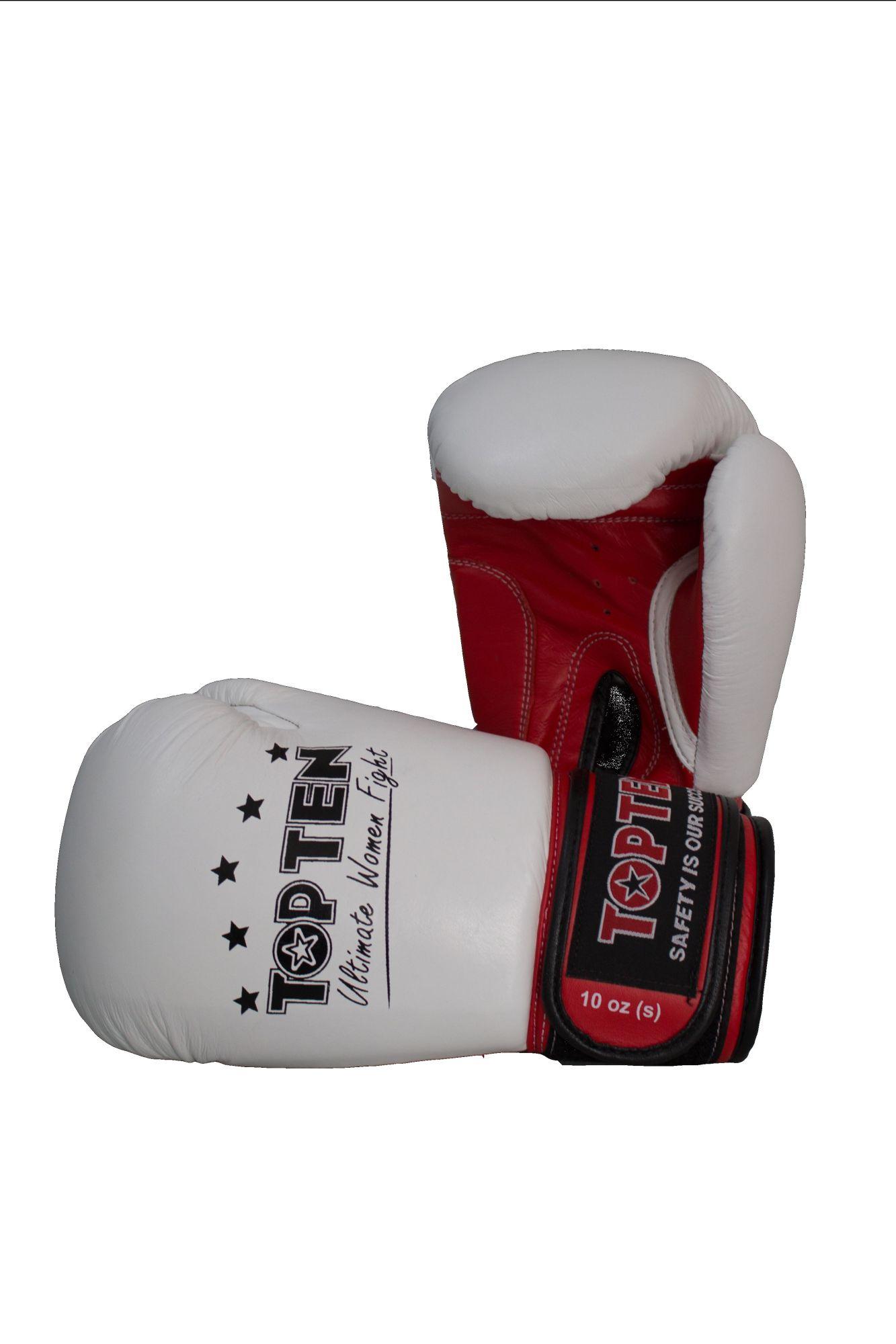 """Bokshandschoenen voor dames """"Ultimate Woman Fight"""" Wit - rood"""