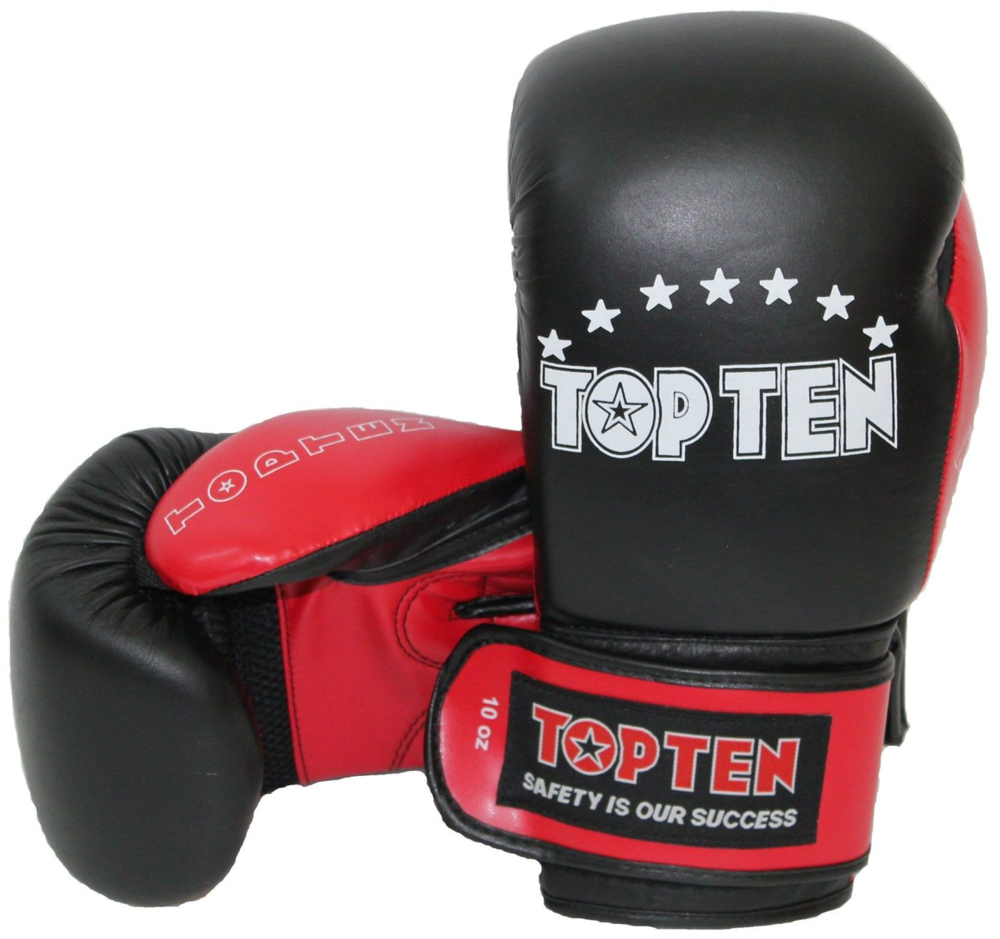 """TOP TEN Bokshandschoenen """"TOP TEN"""" Zwart - rood"""