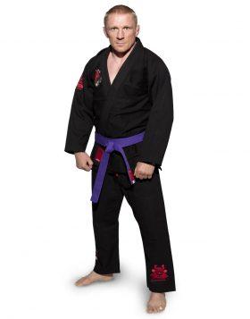 """Brazilian Jiu Jitsu (BJJ) Gi """"Guerriero"""" Zwart"""