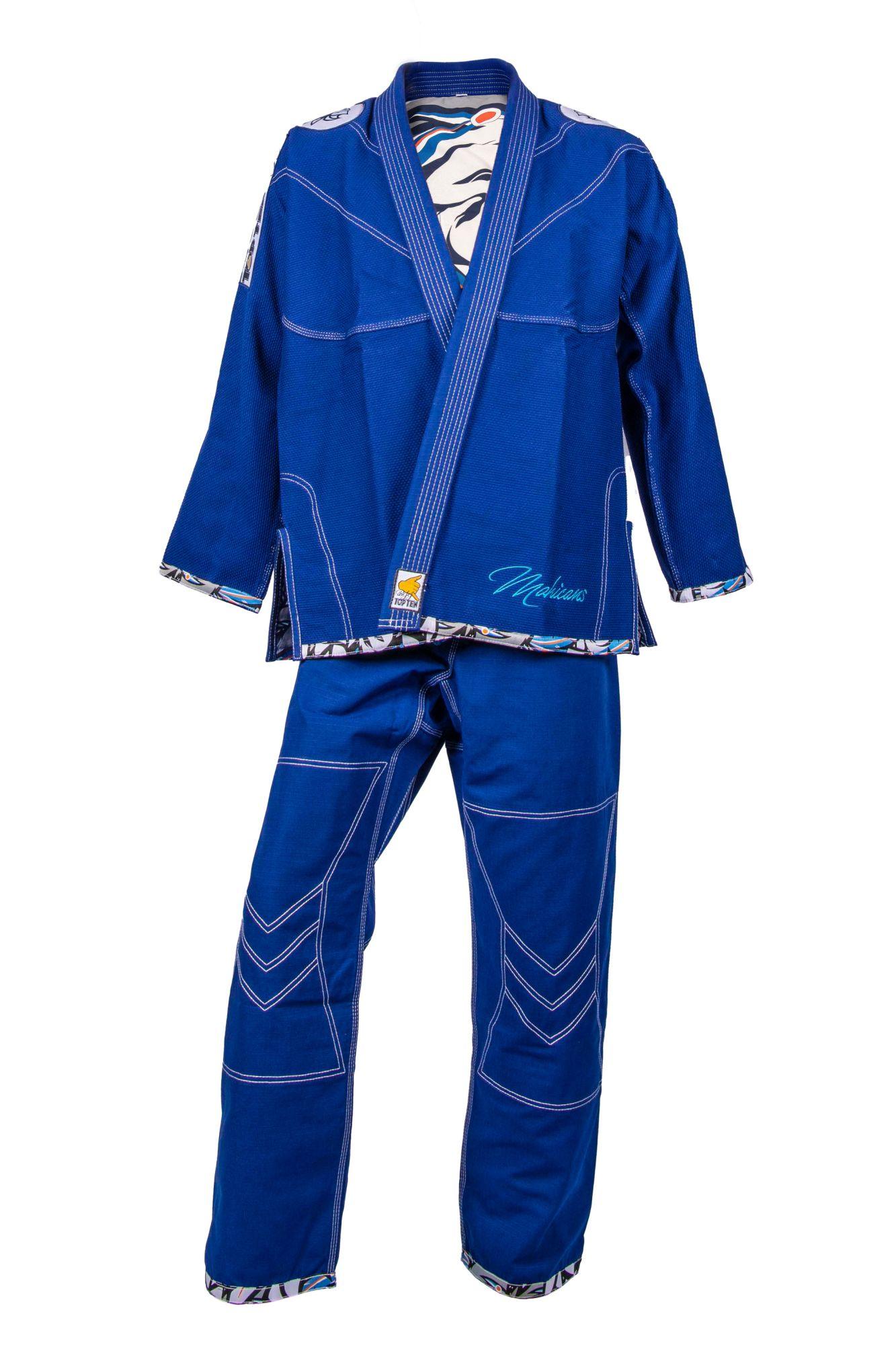 """TOP TEN Brazilian Jiu Jitsu (BJJ) Gi """"Mohicans"""" Blauw"""