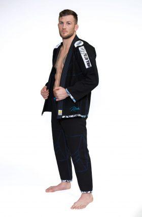 """Brazilian Jiu Jitsu (BJJ) Gi """"Mohicans"""" Zwart"""