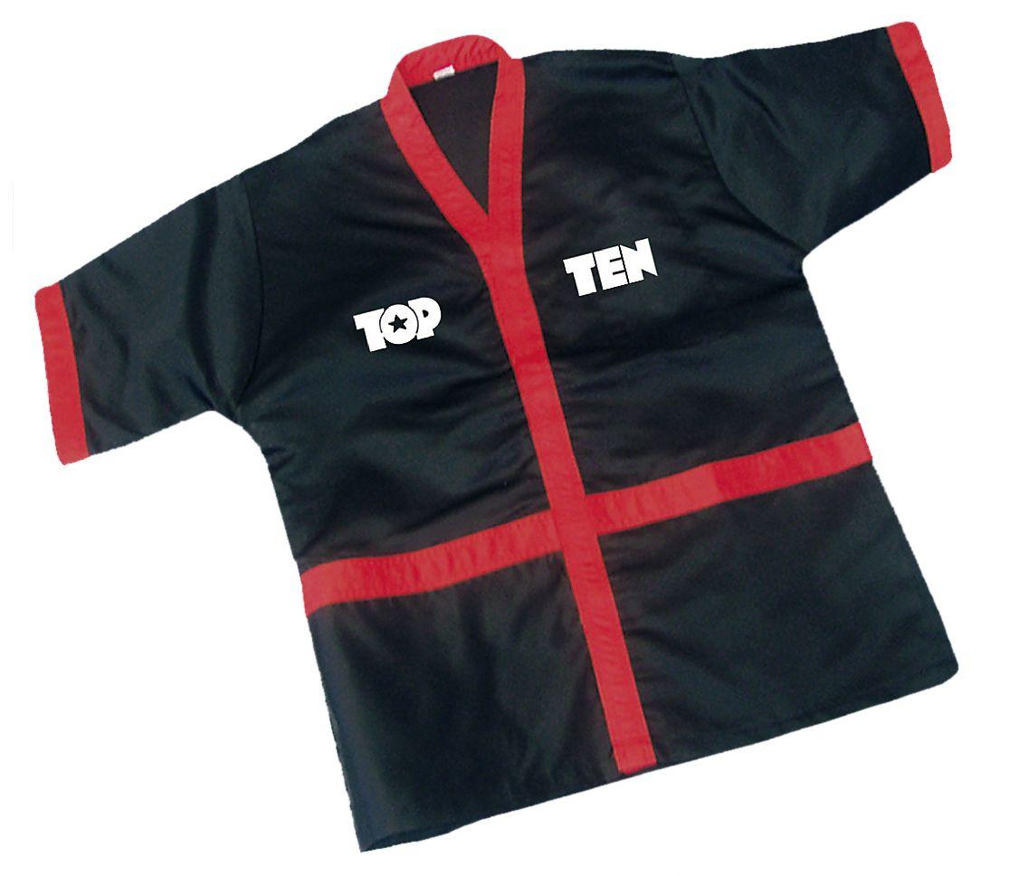 TOP TEN Corner-Jacket Zwart - rood