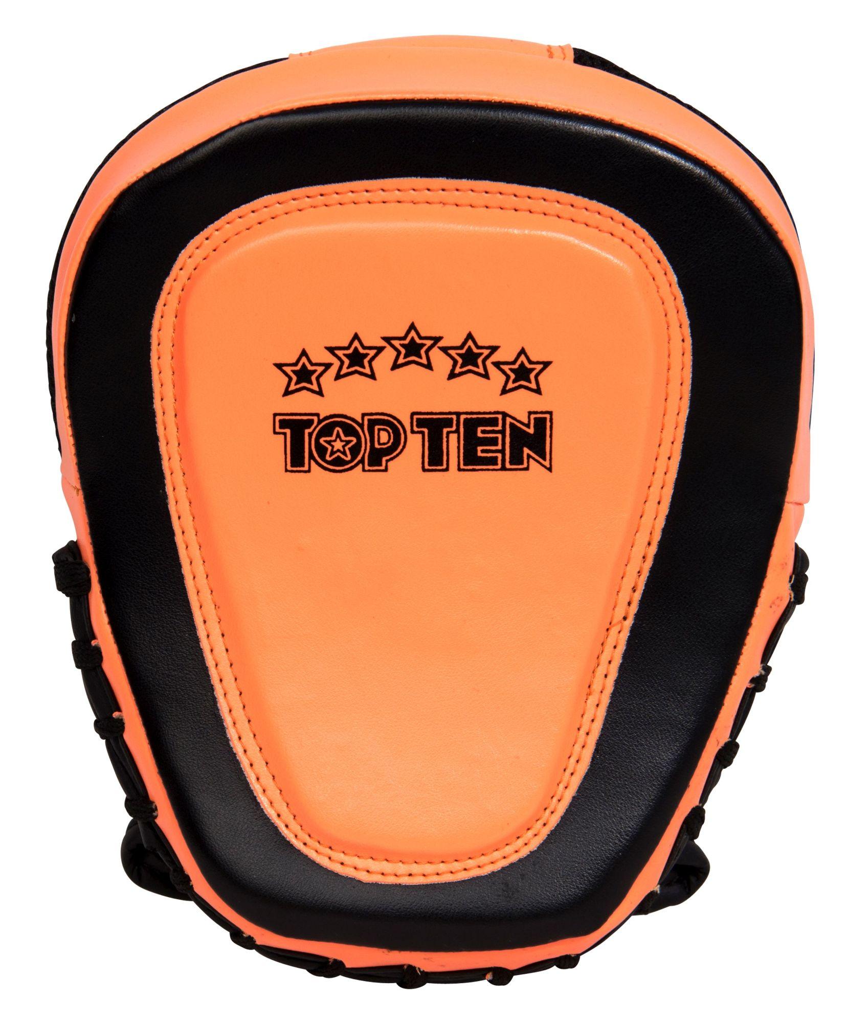 """TOP TEN Focus Mitt """"Speed Gel"""" Zwart - Oranje"""