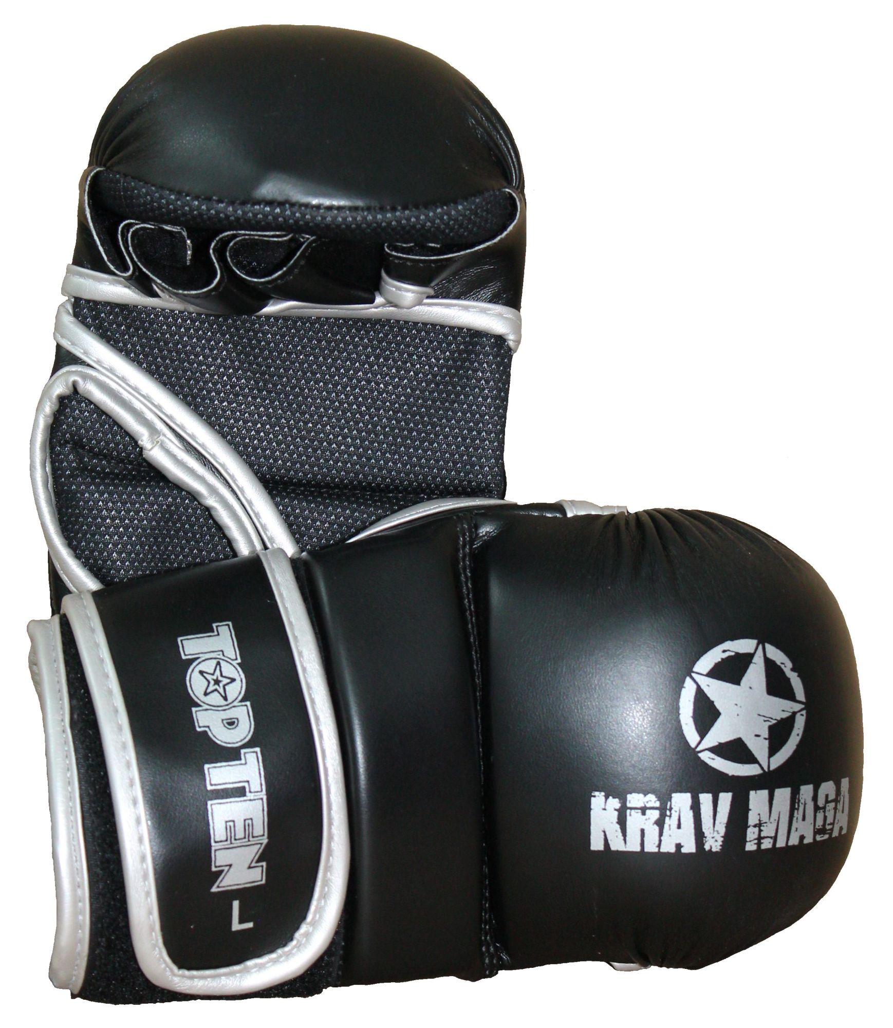 "TOP TEN Grappling gloves ""Krav Maga"" Zwart"