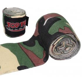 "TOP TEN Boksbandage  boxing bandage elastic ""Camouflage"" Groen - Bruin"