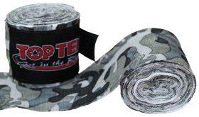 """Boksbandage  boxing bandage elastic """"Camouflage"""" Groen - Grijs"""