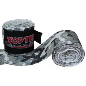 """TOP TEN Boksbandage  boxing bandage elastic """"Camouflage"""" Groen - Grijs"""