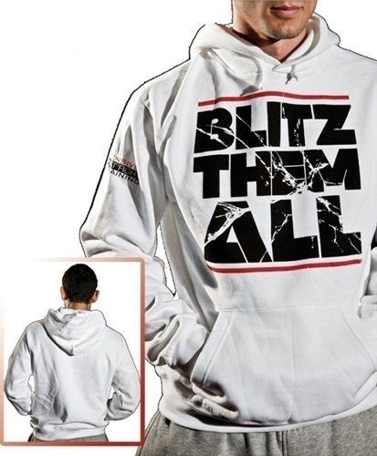 "TOP TEN Hoodie ""Blitz them all"" Wit"