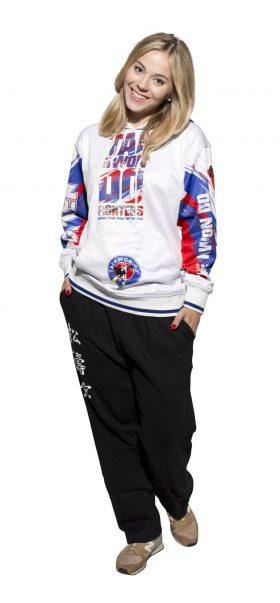 "Hoodie ""ITF Taekwondo Fighters"" Wit - Blauw"