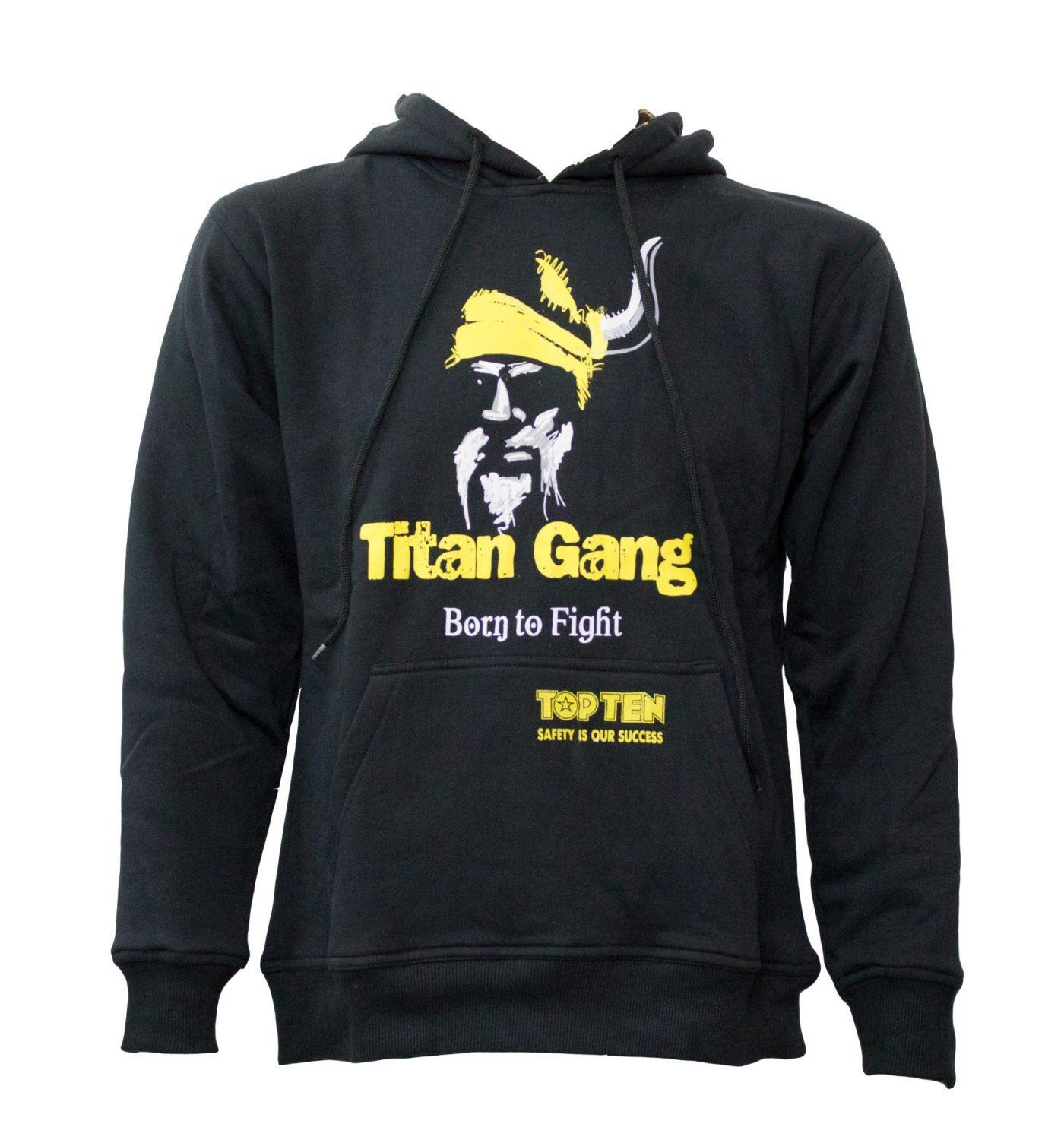 "Hoodie ""Titans"" Zwart - Geel"