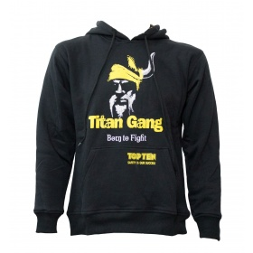 """TOP TEN Hoodie """"Titans"""" Zwart - Geel"""