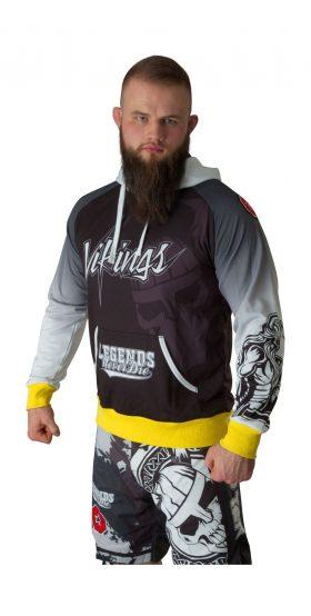 """Hoodie """"Vikings"""" Zwart - Wit"""