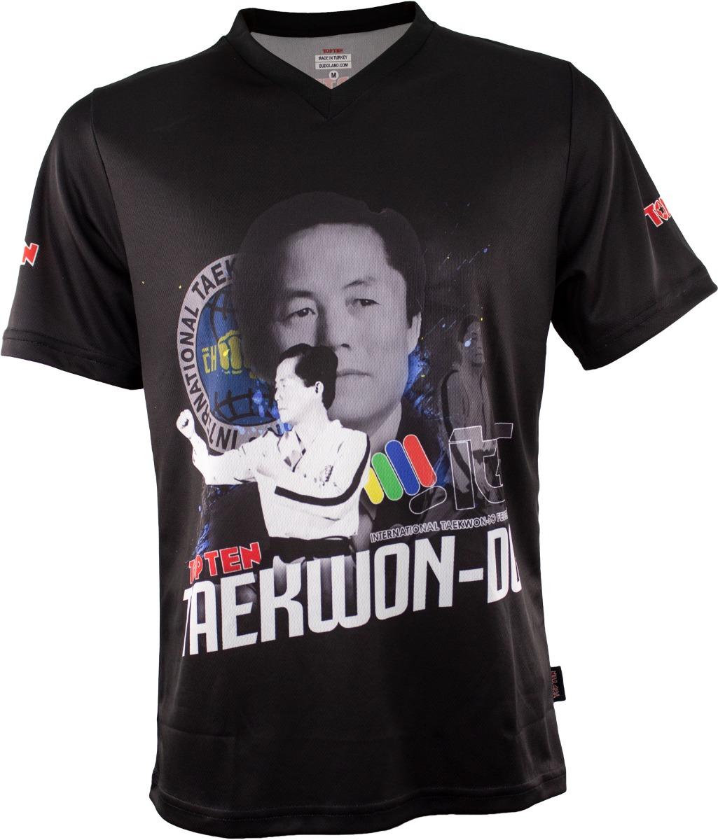 """TOP TEN ITF T-Shirt V-Hals """"General Choi"""" Zwart"""