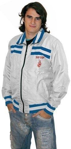 """TOP TEN Jacket """"Sports Fan"""" Wit - Blauw"""