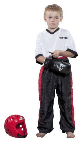 """Kickboksbroek """"Classic"""" voor kinderen Zwart - rood"""