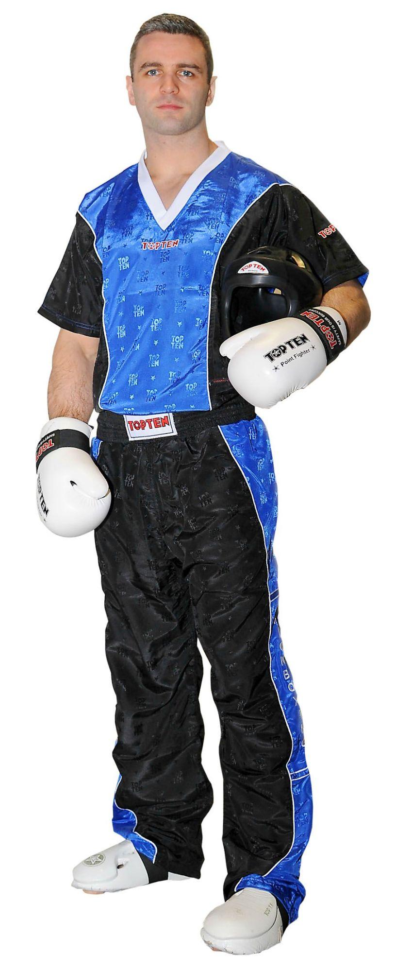 Kickboksbroek voor kinderen Blauw - Zwart