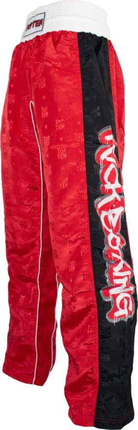 "TOP TEN Kickboksbroek ""Graffiti"" Rood"