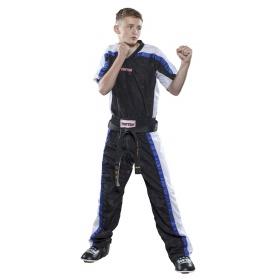 """Top Ten Point Fighting lange kickboksbroek """"Mesh"""" (zwart)"""