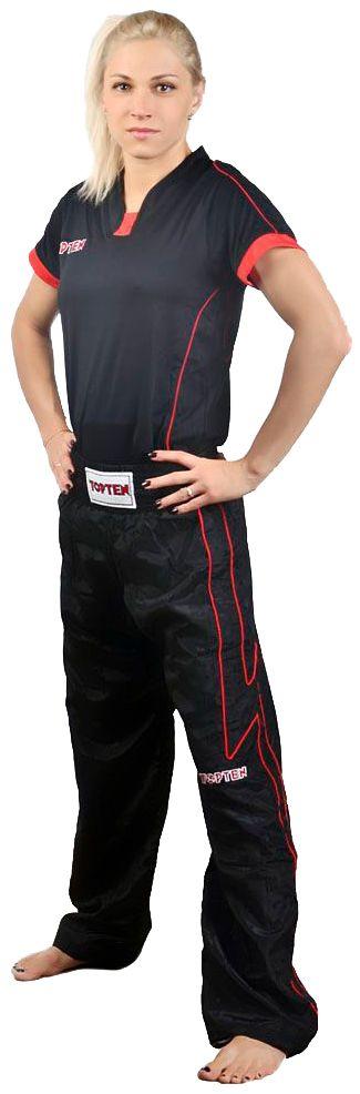 TOP TEN Kickboksbroek Zwart - rood