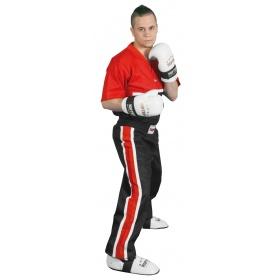 """TOP TEN Kickboksbroek """"Superfighter Collection"""" Zwart - rood"""