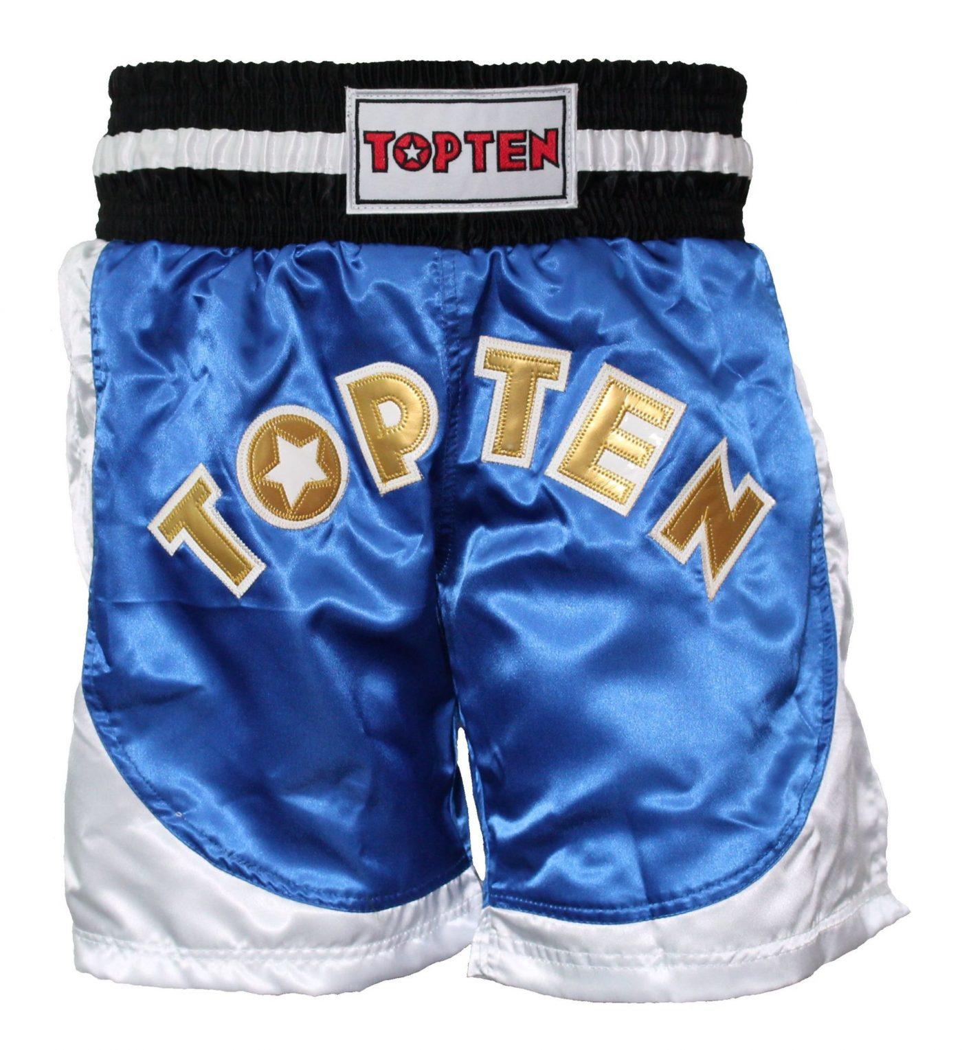 """TOP TEN Kickboksbroekje """"Kick Light"""" Blauw - Wit"""